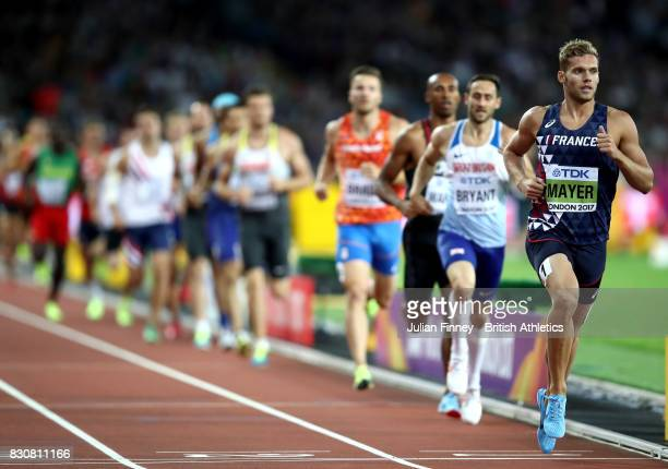 Kevin Mayer of France competes in the Men's Decathlon 1500 metres during day nine of the 16th IAAF World Athletics Championships London 2017 at The...