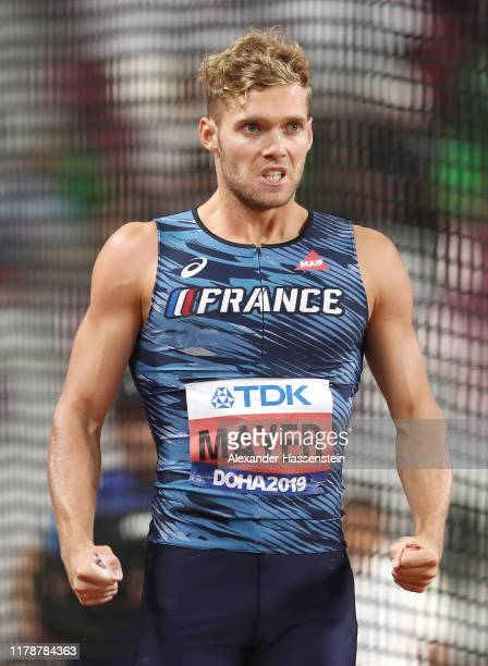 Kevin Mayer of France competes in the Men's Decathlon Discus Throw during day seven of 17th IAAF World Athletics Championships Doha 2019 at Khalifa...