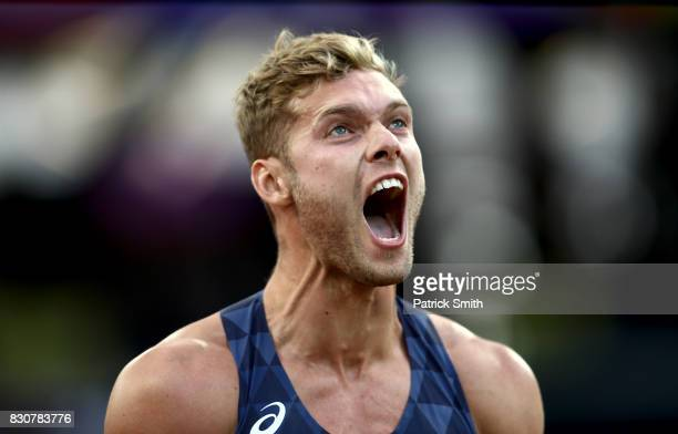 Kevin Mayer of France competes in the Men's Decathlon Javelin during day nine of the 16th IAAF World Athletics Championships London 2017 at The...