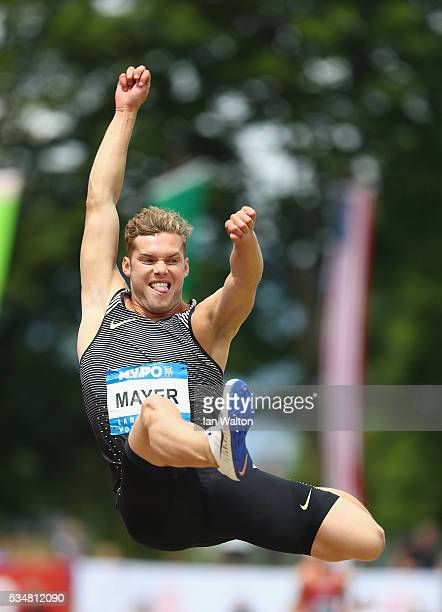 Kevin Mayer of France in action in the mens Decathlon Long Jump during the Hypomeeting Gotzis 2016 at the Mosle Stadiom on May 28 2016 in Gotzis...