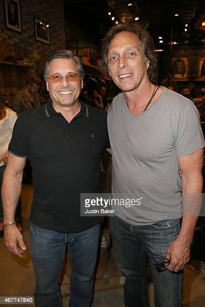 Kevin Mazur and Actor William Fichtner attend A Tribute To Rock Roll hosted by Schott NYC Featuring Photographs from Photographer Kevin Mazur at The...
