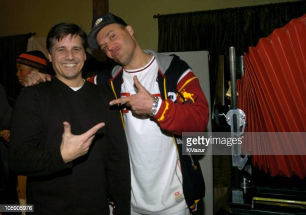 Kevin Mazur and David LaChapelle during 2004 Park City Polaroid Studio at Polaroid Studio in Park City Utah United States