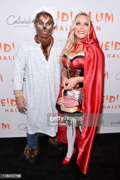 Kevin Mazur and Jennifer Mazur attend Heidi Klum's 20th Annual Halloween Party presented by Amazon Prime Video and SVEDKA Vodka at Cathédrale New...