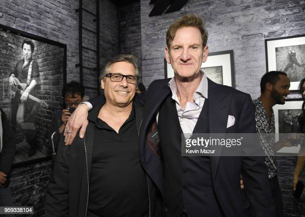 Kevin Mazur and Mark Seliger pose during a private viewing of 'Photographs' at Chase Contemporary on May 16 2018 in New York City
