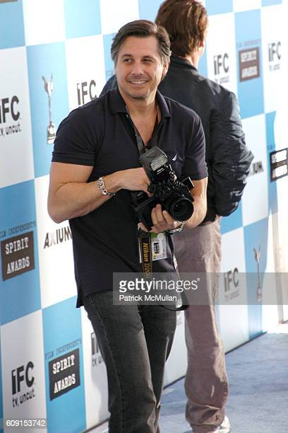 Kevin Mazur attends FILM INDEPENDENT'S 2007 SPIRIT AWARDS hosted by IFC at Santa Monica Beach on February 24 2007 in Santa Monica CA