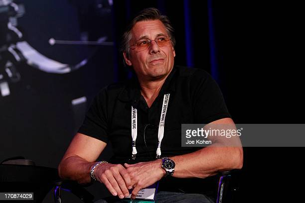 Kevin Mazur cofounder of WireImage speaks PROMAXBDA 2013 at JW Marriott Los Angeles at LA LIVE on June 19 2013 in Los Angeles California