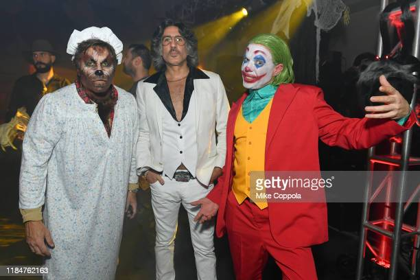 Kevin Mazur Dimitrios Kambouris and Jamie McCarthy attend Heidi Klum's 20th Annual Halloween Party presented by Amazon Prime Video and SVEDKA Vodka...