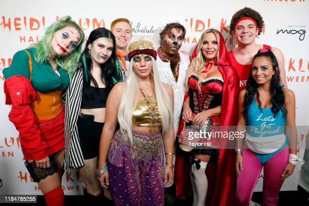 Kevin Mazur Jennifer Mazur 3R and family attend Heidi Klum's Annual Hallowe'en Party at Cathedrale on October 31 2019 in New York City