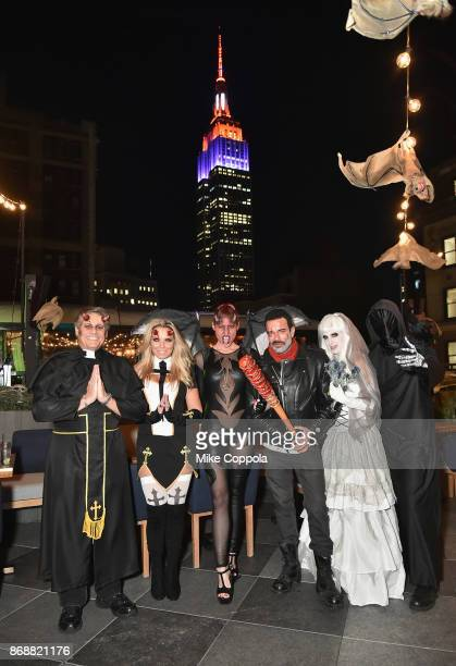Kevin Mazur Jennifer Mazur Megan Thompson Jamie McCarthy Joy Busacca and Larry Busacca attend Heidi Klum's 18th Annual Halloween Party presented by...