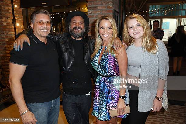 Kevin Mazur Mr Brainwash Jennifer Mazur and Ashley Mazur attend A Tribute To Rock Roll hosted by Schott NYC Featuring Photographs from Photographer...