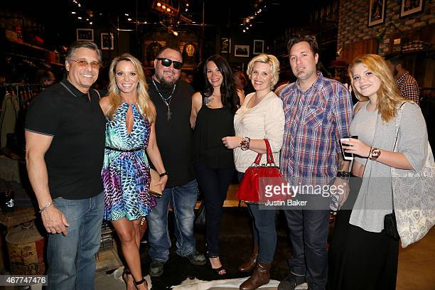 Kevin Mazur with friends and family attend A Tribute To Rock Roll hosted by Schott NYC Featuring Photographs from Photographer Kevin Mazur at The...