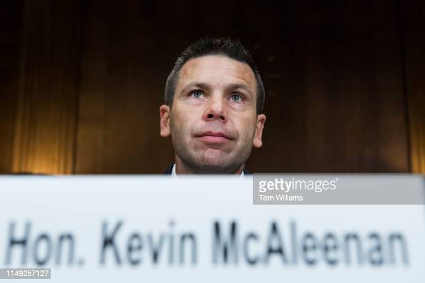 Kevin McAleenan acting secretary of Department of Homeland Security arrives to testify during a Senate Judiciary Committee hearing in Dirksen...