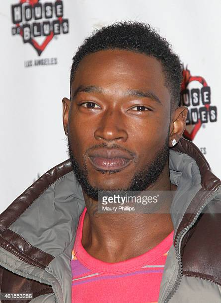 Kevin McCall arrives at RB Divas LA Celebration of Life red carpet and performance at the House of Blues Sunset Strip on January 14 2015 in West...