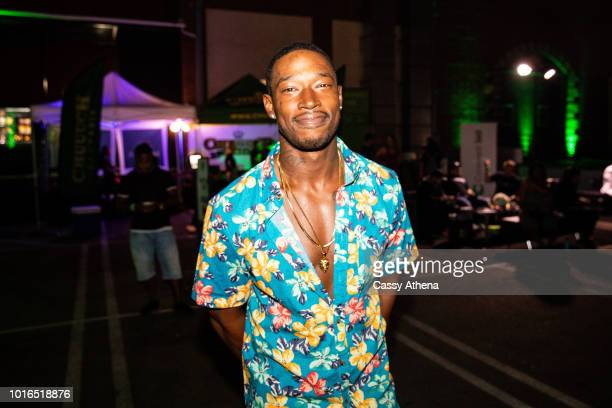 Kevin McCall attends the Smoke 4 a Cure event hosted by Matt Barnes and Snoop Dogg at Snoop Dogg's Compound on August 9 2018 in Inglewood California