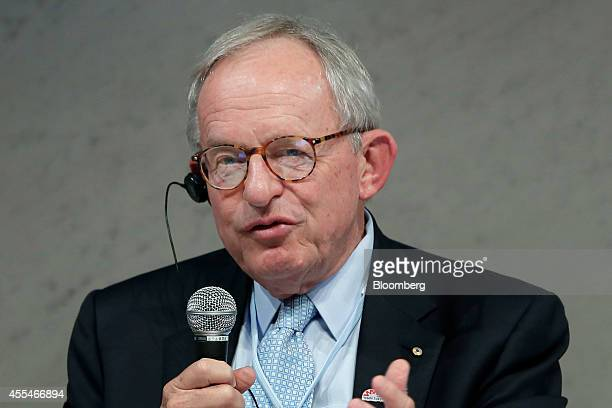 Kevin McCann chairman of Macquarie Group Ltd speaks during a panel discussion at the World Assembly for Women forum in Tokyo Japan on Friday Sept 12...