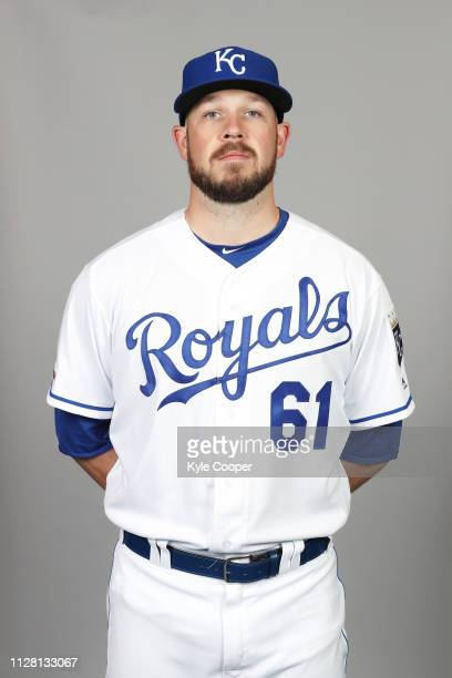 Kevin McCarthy of the Kansas City Royals poses during Photo Day on Thursday February 21 2019 at Surprise Stadium in Surprise Arizona