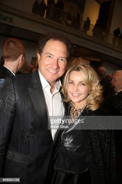 Kevin McCollum and Lynette Perry pose at the opening night after party for Lincoln Center Theater's production of 'My Fair Lady' on Broadway at David...