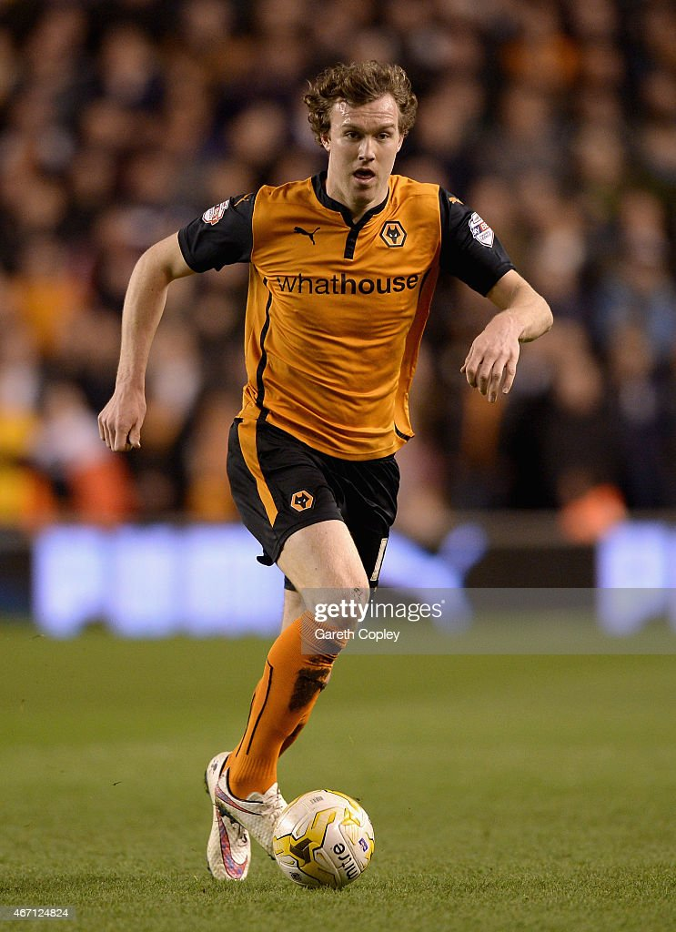 Kevin McDonald of Wolves during the Sky Bet Championship match between Wolverhampton Wanderers and Derby County at Molineux on March 20, 2015 in Wolverhampton, England.