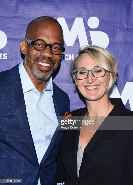 Kevin McDowell and Kari Boatner attend the March of Dimes Signatures Chefs Auction Los Angeles on October 11 2018 in Beverly Hills California