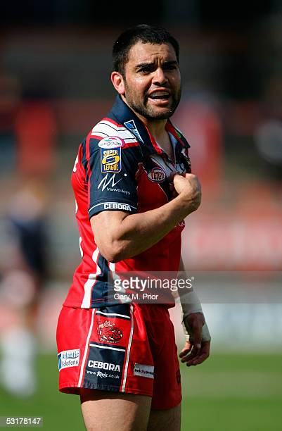 Kevin McGuinness of Salford pictured during the Powergen Challenge Cup Fifth Round match between Salford City Reds and London Broncos at The Willows...