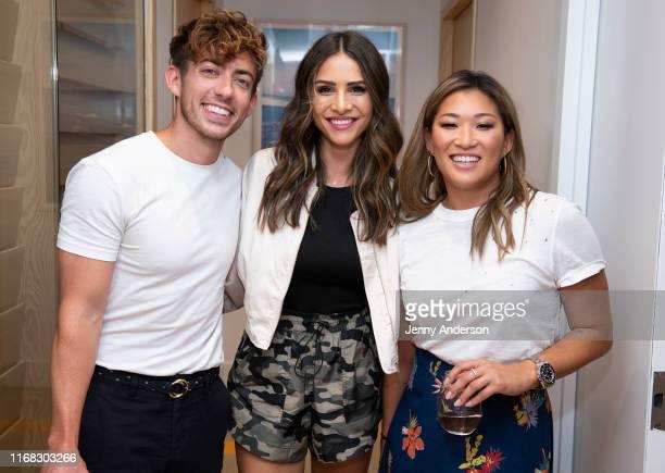 Kevin McHale Andi Dorfman and Jenna Ushkowitz attend TodayTix Presents 'Showmance with Kevin McHale and Jenna Ushkowitz' on August 15 2019 at WeWork...
