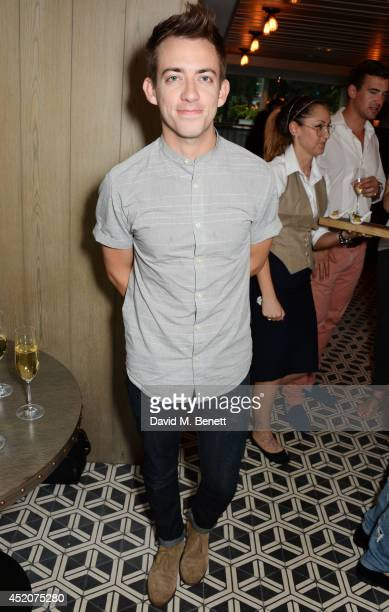 Kevin McHale attends Henry Conway's birthday at Pont St Restaurant in the Belgraves Hotel on July 12 2014 in London England