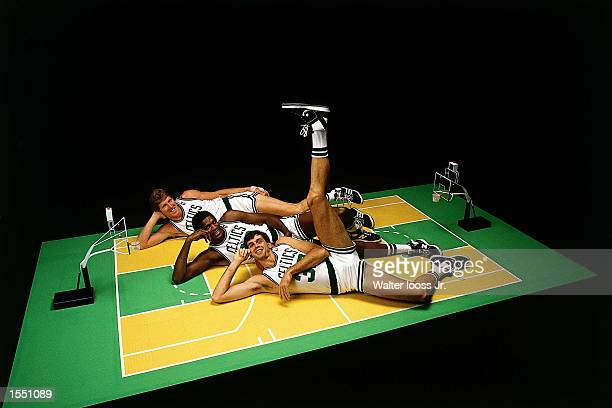 Kevin McHale Robert Parish and Bill Walton of the Boston Celtics pose for a portrait in Boston Massachusetts NOTE TO USER User expressly acknowledges...