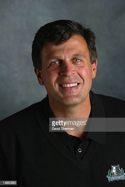 Kevin McHale Vice President of Basketball Operations for the Minnesota Timberwolves poses for a portrait during Media Day on September 30 2002 at...
