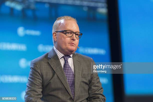 Kevin McIntyre commissioner of the US Federal Energy Regulatory Commission speaks during the 2018 CERAWeek by IHS Markit conference in Houston Texas...