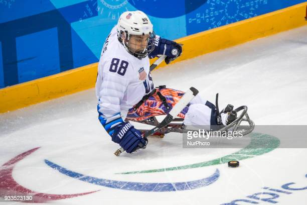 Kevin McKEE during The Ice Hockey gold medal game between Canada and United States during day nine of the PyeongChang 2018 Paralympic Games on March...