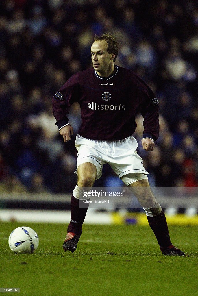 Kevin McKenna of Heart of Midlothian in action during the Bank of Scotland Scottish Premier League match between Rangers and Hearts on December 20, 2003 at Ibrox in Glasgow, Scotland. Rangers won the match 2-1.