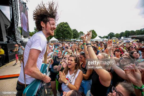 Kevin McKeown of Black Pistol Fire during Day 2 of Music Midtown Festival at Piedmont Park on September 16 2018 in Atlanta Georgia