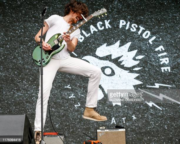 Kevin McKeown of Black Pistol Fire performs in concert during week two of the ACL Music Festival at Zilker Park on October 11, 2019 in Austin, Texas.