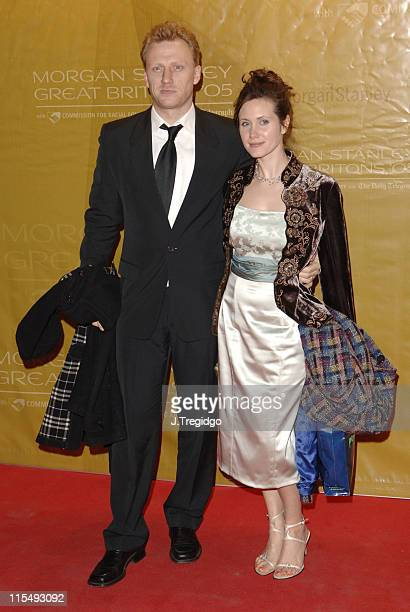 Kevin McKidd and guest during Morgan Stanley Great Britons 2005 at Guildhall in London Great Britain