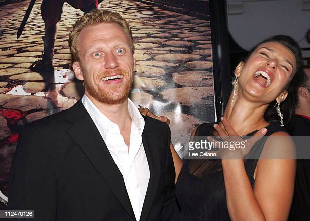 Kevin McKidd and Indira Varma during HBO's Rome Los Angeles Premiere Red Carpet at Wadsworth Theatre in Los Angeles California United States