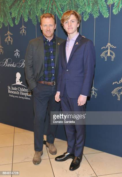 Kevin McKidd and Joseph McKidd attend the Brooks Brothers holiday celebration with St Jude Children's Research Hospital at Brooks Brothers Rodeo on...