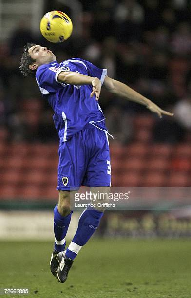 Kevin McNaughton of Cardiff City in action during the Coca Cola Championship match between Stoke City and Cardiff City at Britannia Stadium on...