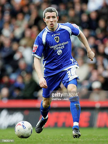 Kevin McNaughton of Cardiff City in action during the CocaCola Championship match between Derby County and Cardiff City at Pride Park on March 17...