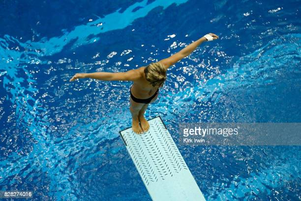Kevin Mendez of Pine Crest Diving competes during the Senior Men's 3m Springboard Preliminary during the 2017 USA Diving Summer National...