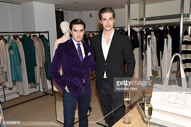 Kevin Michael Barba and Seth Tringale attend Max Mara's celebration of the YoungArts New York Inaugural Gala on March 30 2016 in New York City