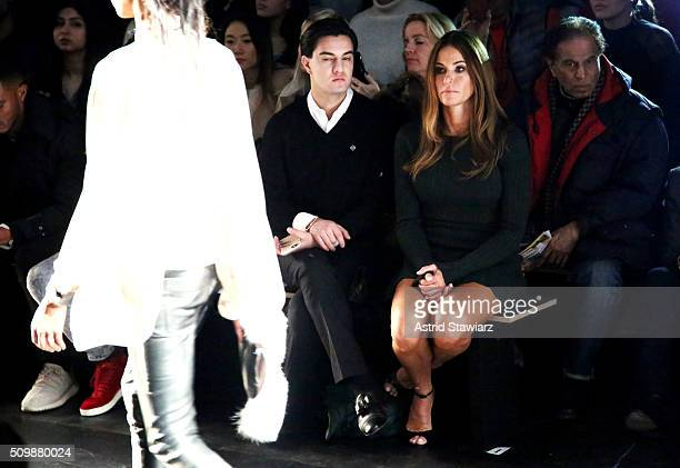 Kevin Michael Barba and TV personality Kelly Bensimon attend the Francesca Liberatore Fall 2016 fashion show during New York Fashion Week The Shows...