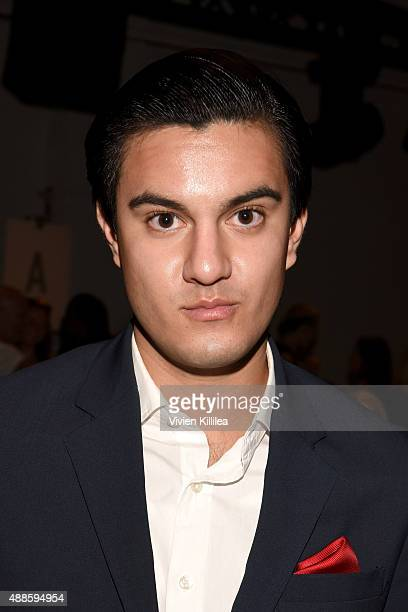 Kevin Michael Barba attends Bibhu Mohapatra Spring 2016 during New York Fashion Week The Shows at The Gallery Skylight at Clarkson Sq on September 16...