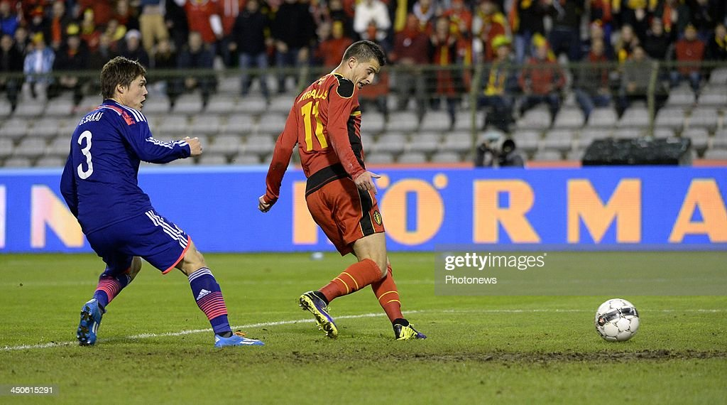 Kevin Mirallas of Belgium pictured during the pre World Cup international friendly match between Belgium and Japan on November 19, 2013 in Brussels, Belgium