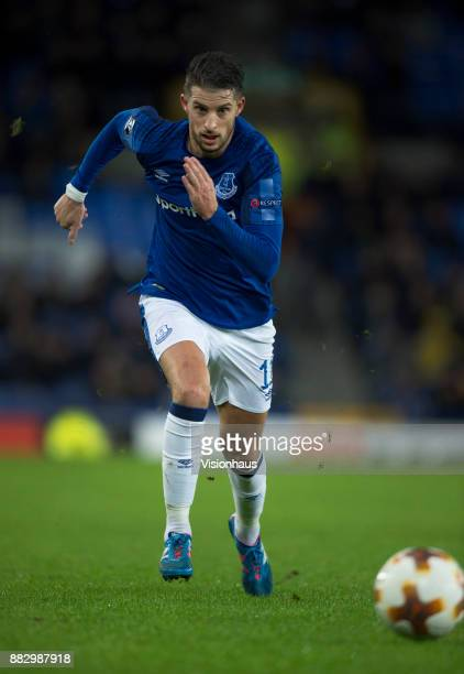 Kevin Mirallas of Everton in action during the UEFA Europa League group E match between Everton FC and Atalanta at Goodison Park on November 23 2017...