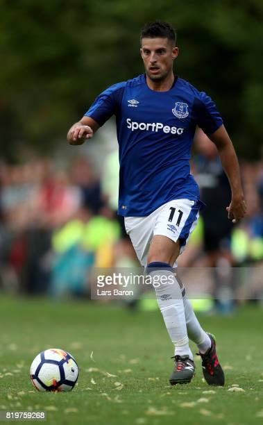 Kevin Mirallas of Everton runs with the ball during a preseason friendly match between FC Twente and Everton FC at Sportpark de Stockakker on July 19...