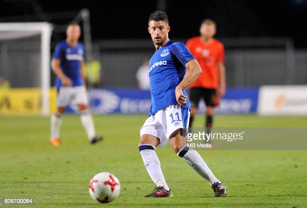 Kevin Mirallas reacts during the UEFA Europa League Qualifier between MFK Ruzomberok and Everton on August 3 2017 in Ruzomberok Slovakia