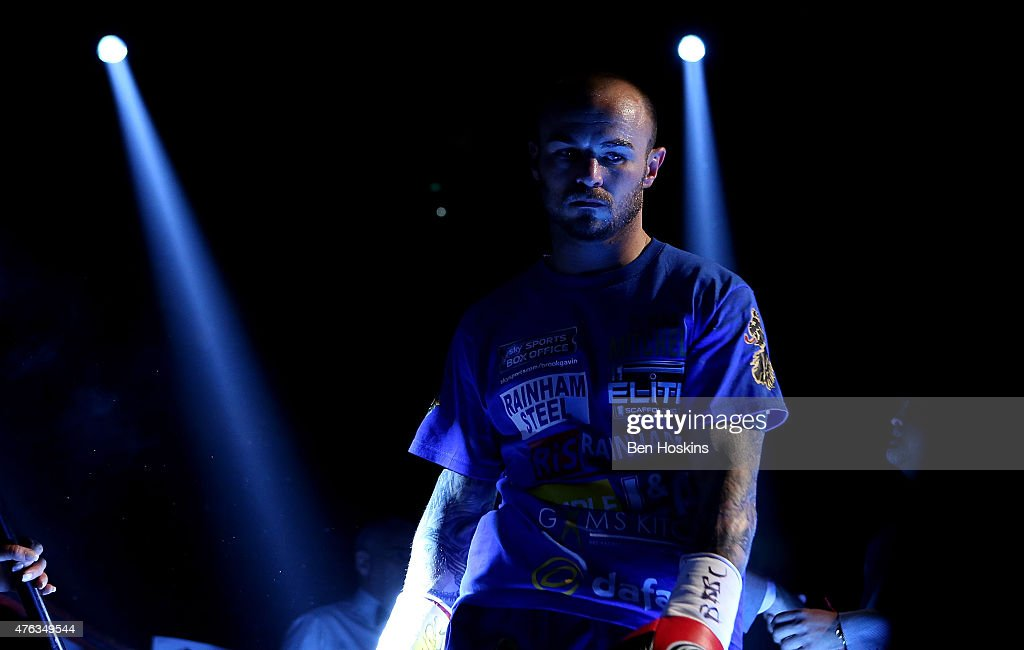 Kevin Mitchell of England looks on ahead of his WBC World Lightweight Championship bout against Jorge Linares of Venezuela at The O2 Arena on May 30, 2015 in London, England.