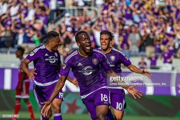 Kevin Molino of the Orlando City Lions Scores the second goal for the team against the New England Revolution at the Citrus Bowl in Orlando Florida...