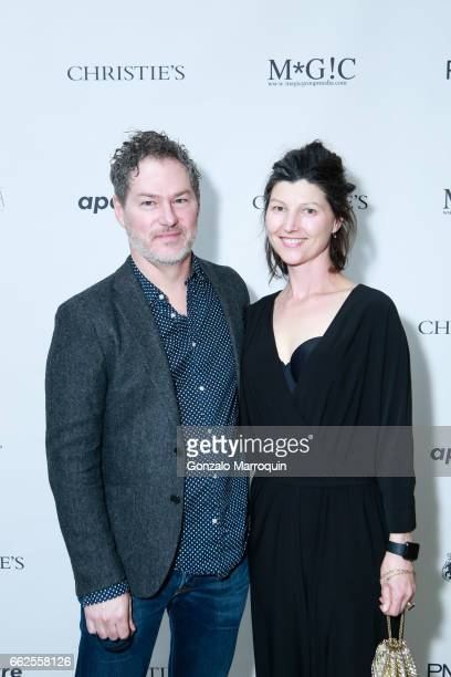 Kevin Moore and Carissa Barnard attends the Aperture Spring Party and Auction Inspired by Dandy Lion at Aperture Foundation on March 31 2017 in New...