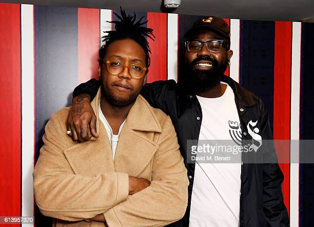 Kevin Morosky and Mikill Pane attend the Agi & Sam x Lacoste L!ve Collection Launch on October 11, 2016 in London, United Kingdom.